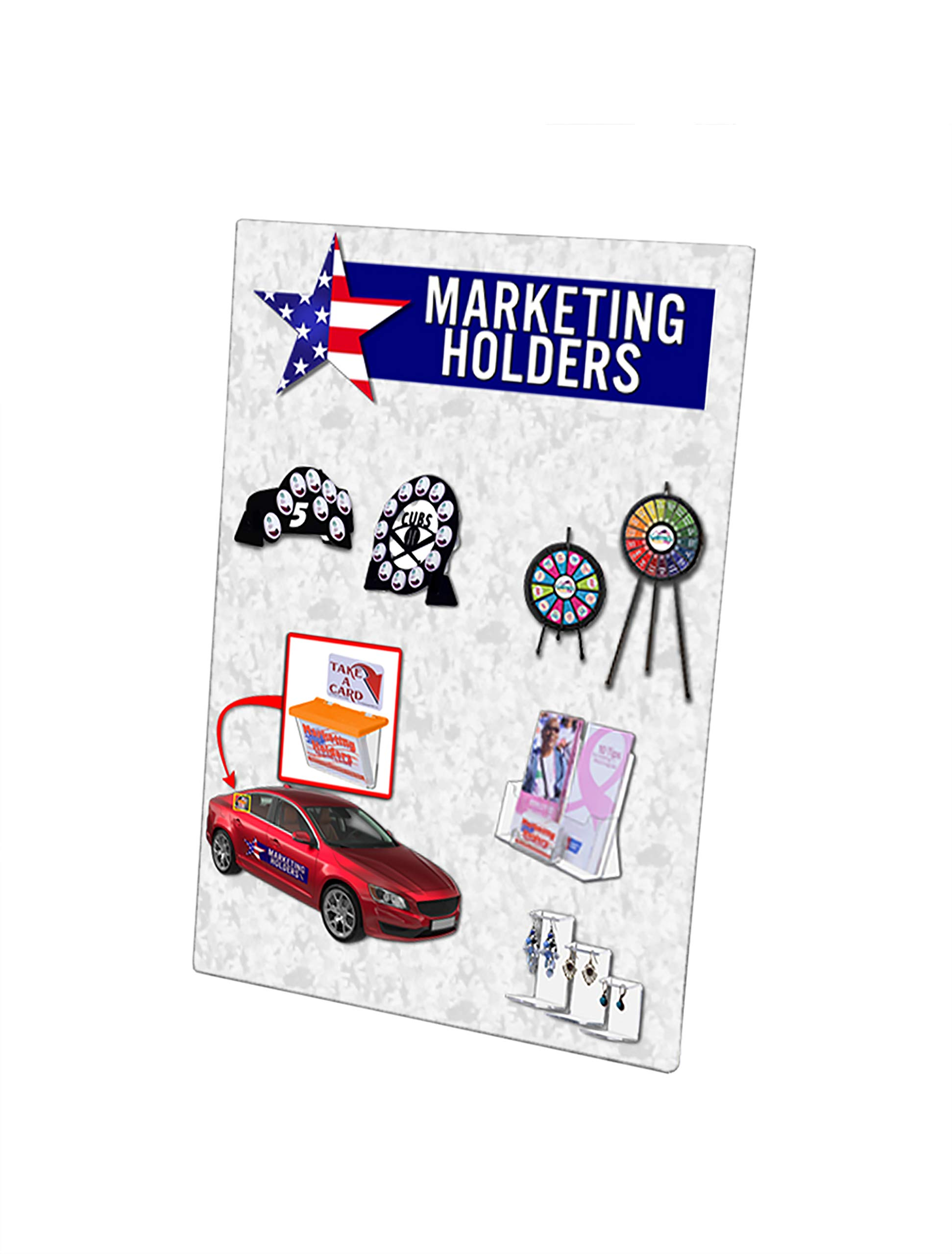 Marketing Holders Wall Mount 5''w x 7''h Sign Holder NO Holes Vertical Clear Acrylic Signs Lot of 100