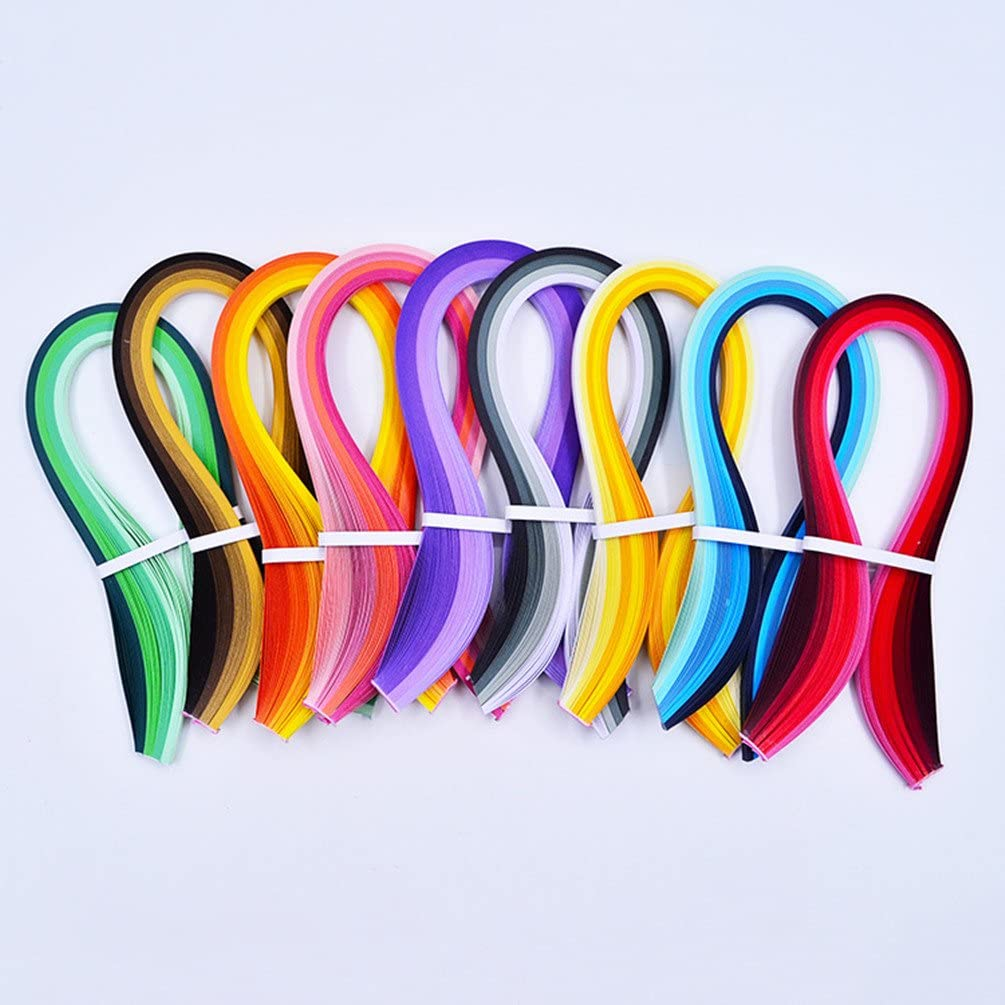 4 Sets in One Pack YURROAD 640 Strips 36 Colors Quilling Paper Strips Kit Length 39cm Width 3mm 5mm 7mm 10mm