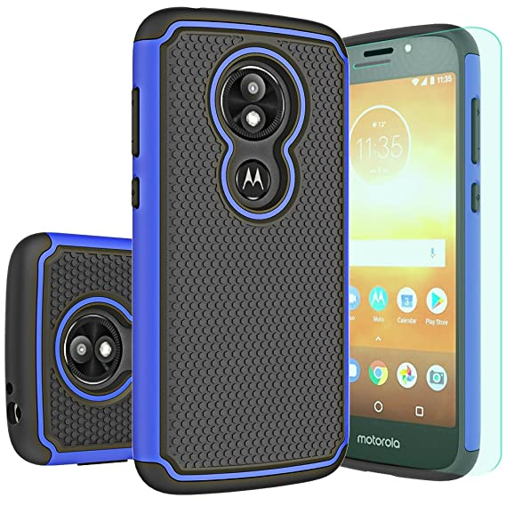 super popular 0f7ec 26a63 Moto E5 Play Case,Moto E5 Cruise Case with HD Screen Protector Huness  Durable Armor and Resilient Shock Absorption Case Cover for Motorola Moto  E5 ...
