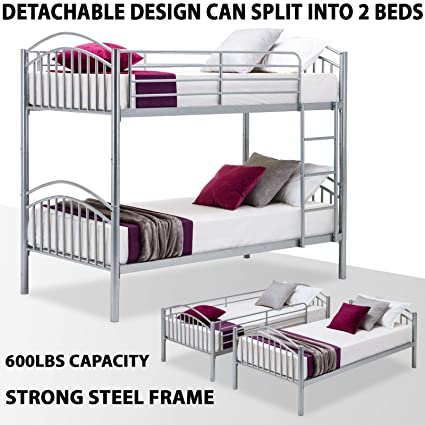 Amazon Com Lvr Supply 79 Inch Detachable Bunk Bed Frame Convertible