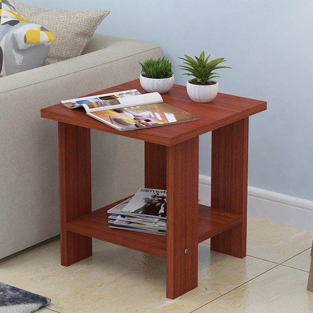 Home Desk Living Room Sofa Side Corner Several Bedroom Bedside Table Small Side A Few 505052cm ( Color : Teak )
