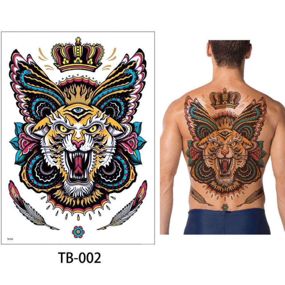 adgkitb 2 Piezas Tatuaje Pegatina Pecho clásico tótem Tigre Fresco ...