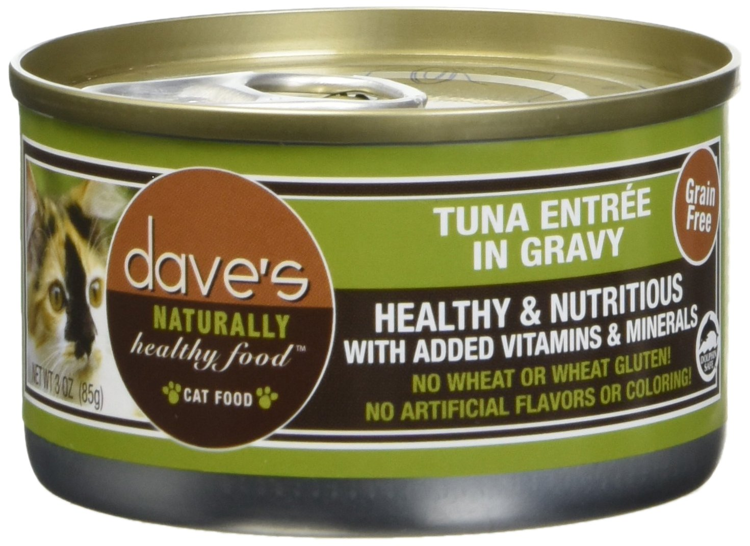 Dave'S Naturally Healthy Tuna Entr?E In Gravy For Cats, 3 Oz Can (Case Of 24 ) by Dave's Pet Food