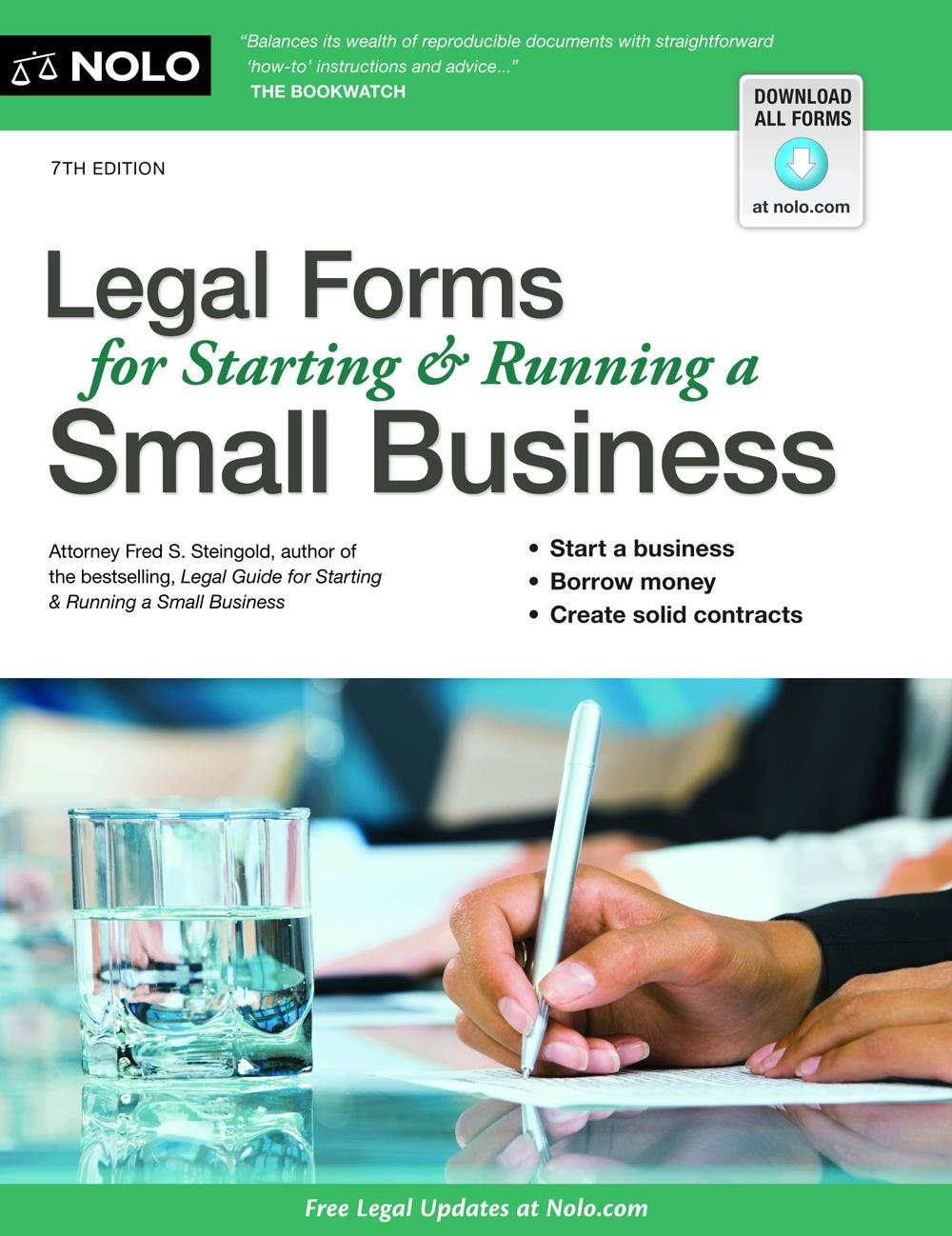 Legal Forms For Starting Running A Small Business Fred Steingold - Free business documents