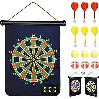 Abree Dartbord, magnetisch dartbord, werpspel, klittenband, voor binnen en buiten, om op te hangen, met 6 ballen en 6…
