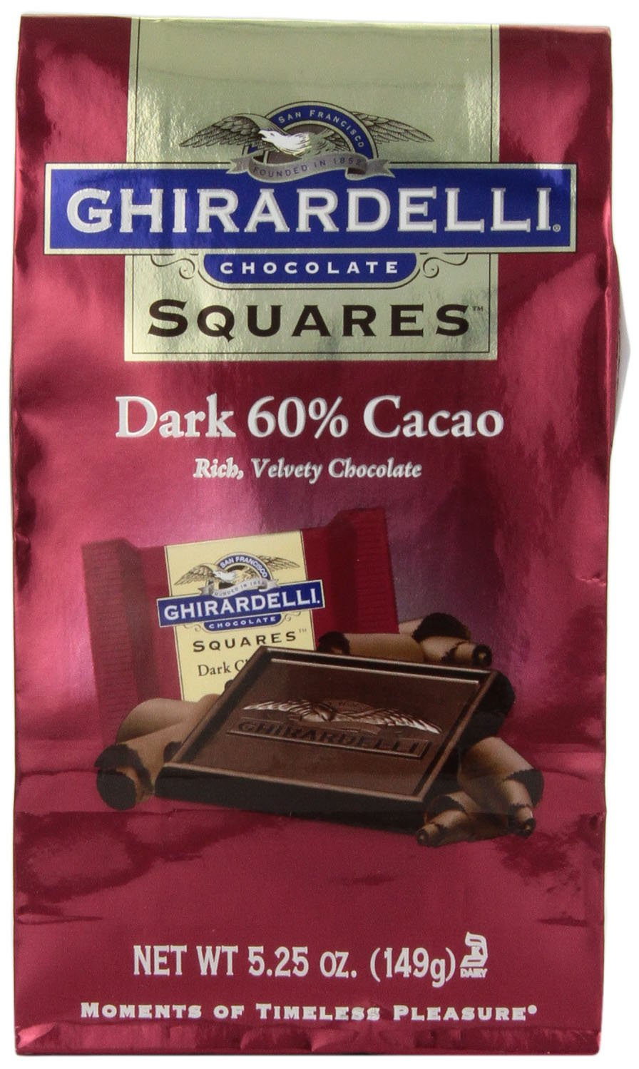 Amazon.com : Ghirardelli Chocolate Squares, Dark Chocolate, 5.25 ...