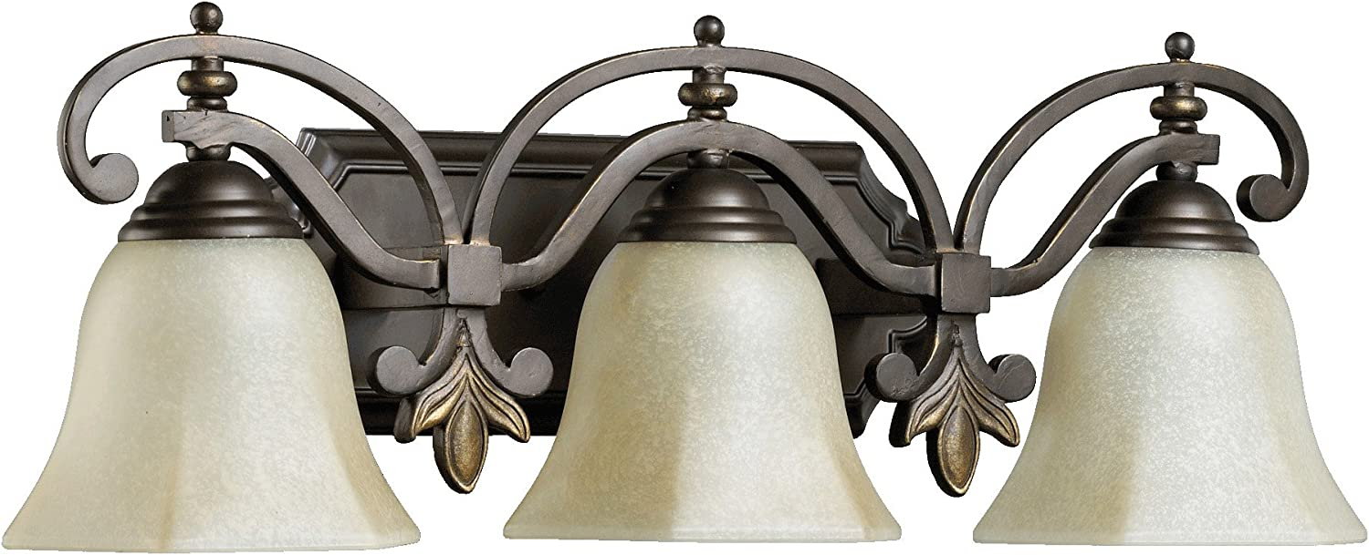 Quorum International 5031-3-86 Marcela 3 Light Vanity, Oiled Bronze