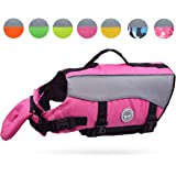 Vivaglory Dog Life Jackets with Extra Padding for Dogs, Available in 5 Sizes & 8 Colors