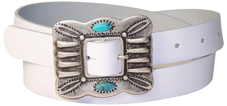 a5e55c580ecb FRONHOFER Ceinture pour femme 2,5 cm boucle de ceinture turquoise, indienne,  ceinture mexicaine,ceinture en cuir véritable, ceinture indienne 18176  ...