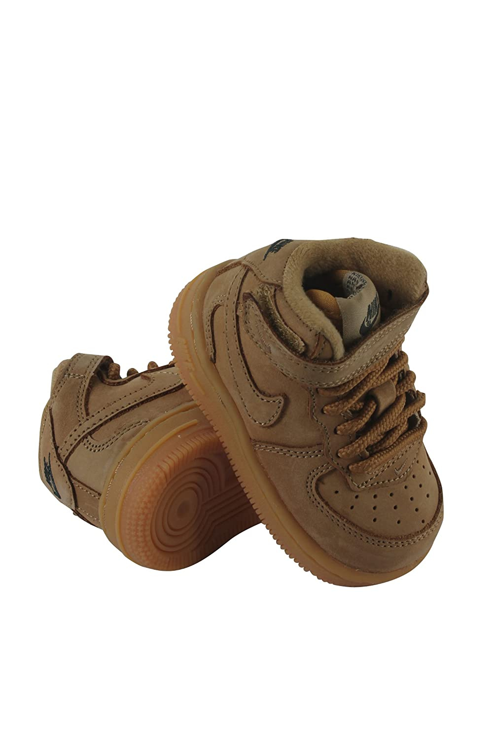 b5cb63e017 Amazon.com | Nike Force 1 MID LV8 (TD) Boys Toddler Basketball-Shoes ...