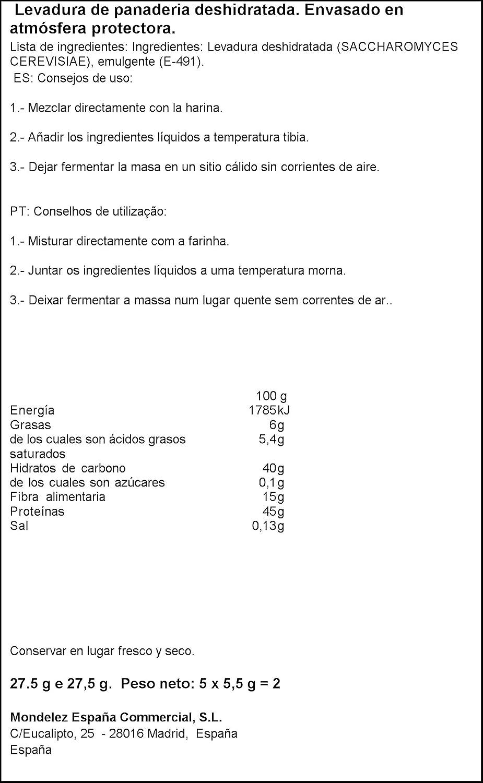 Royal - Levadura En Polvo, 5 sobres, 27.5 g: Amazon.es ...