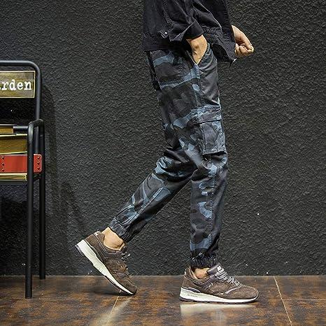 Hombre pantalones chandals invierno otoño,Pantalones deportivos de hombre camuflaje estampado con bolsillos casual deportes