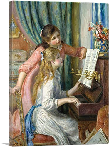 ARTCANVAS Two Young Girls at The Piano 1892 Canvas Art Print