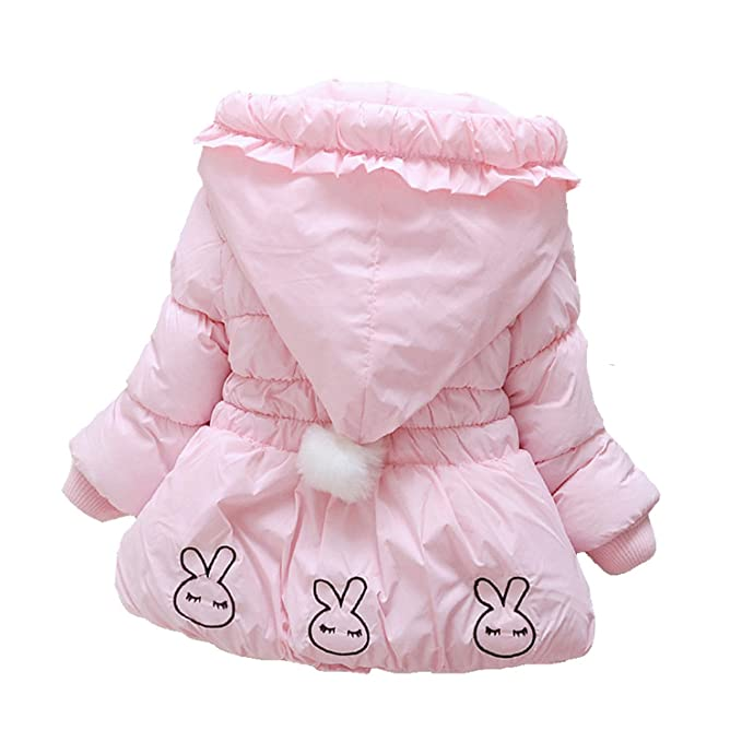 191092fbc Amazon.com: Samuel Roussel Pink Baby Jacket Rabbit Pocket Jackets Kids  Spring Casual Girls Outerwear Autumn: Clothing