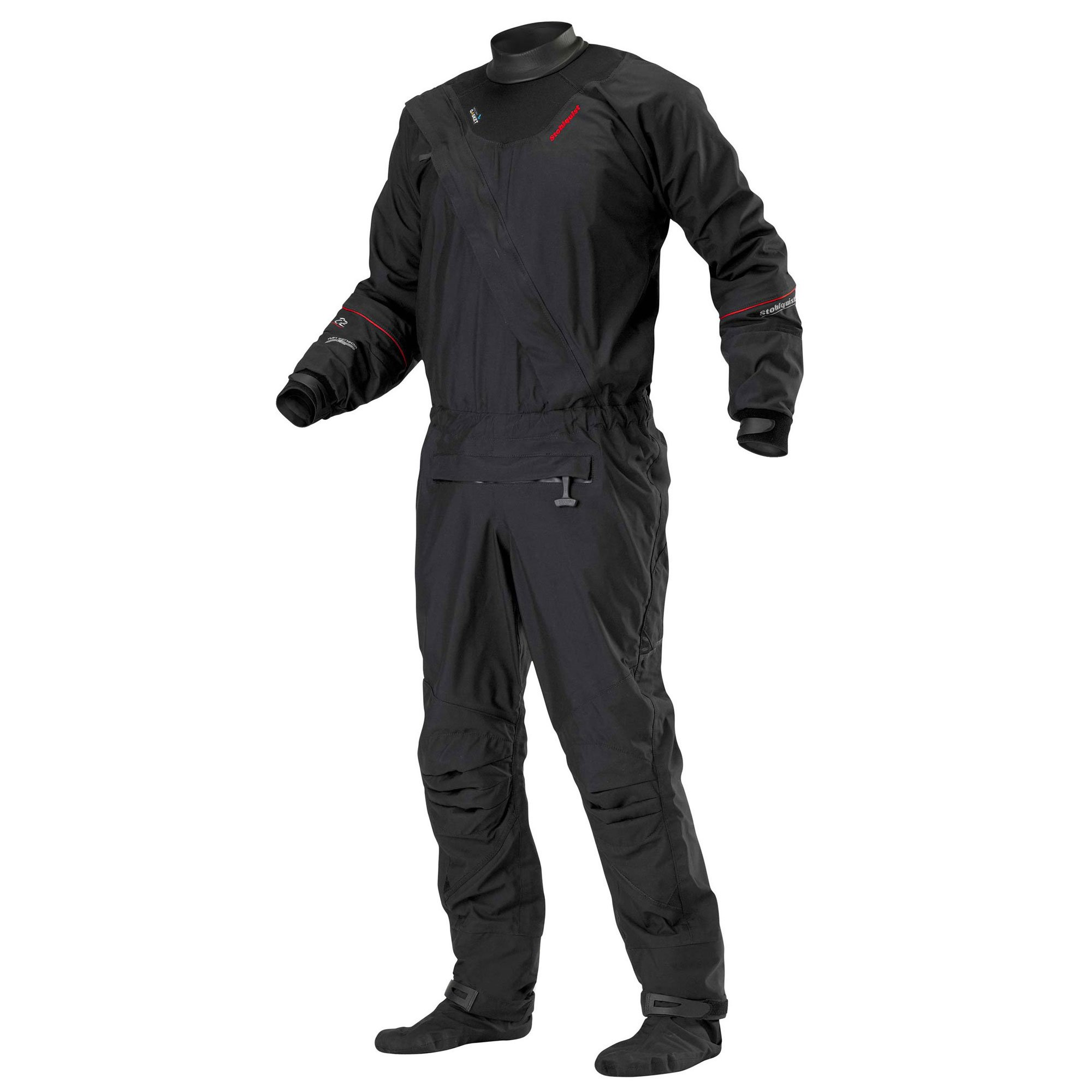 Stohlquist Ez Drysuit (Black, X-Large) by Stohlquist Waterware