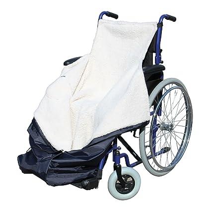 Saco impermeable para silla de ruedas con interior de forro polar (41 x 9 x