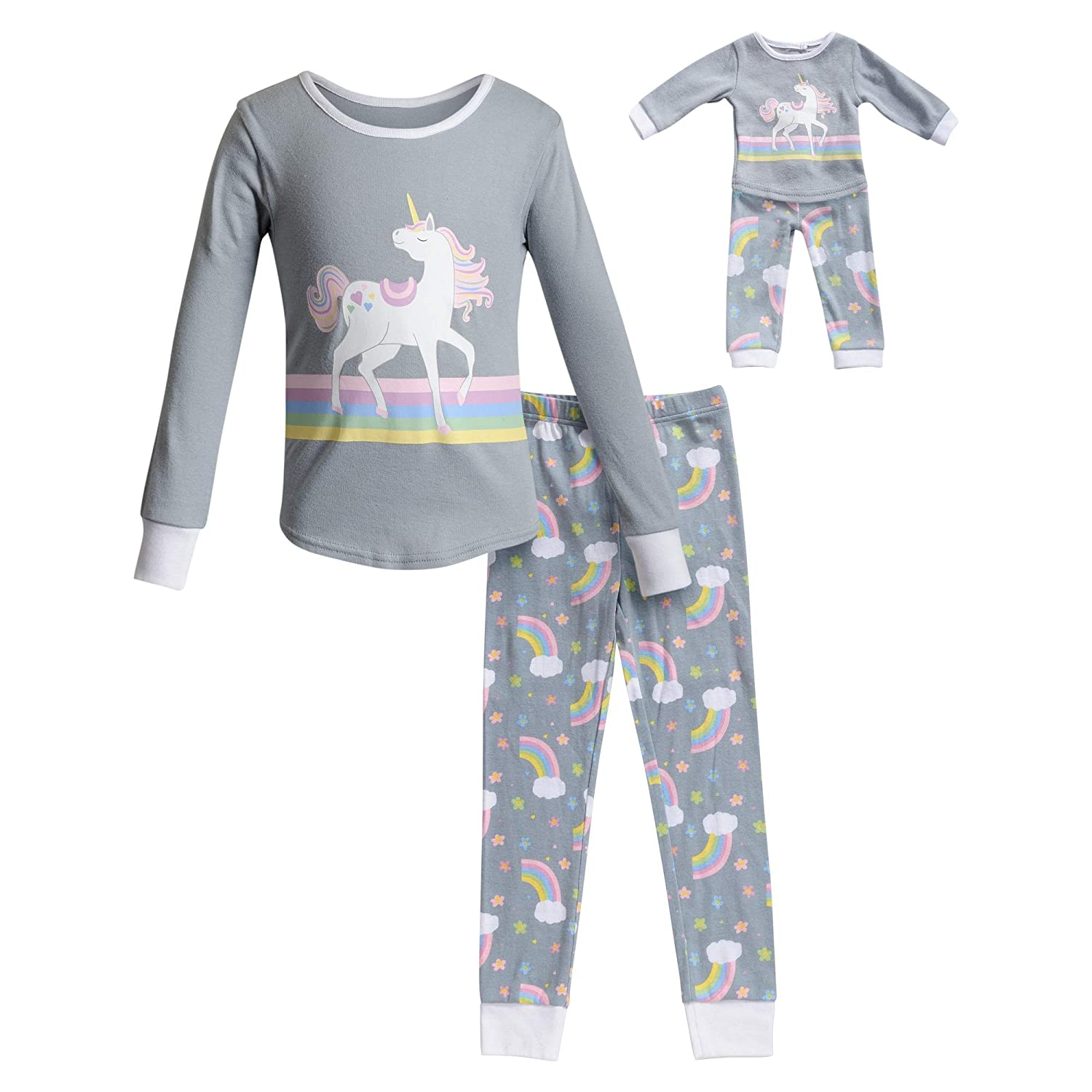 Dollie   Me Girls  Apparel Snug Fit Sleepwear Set and Matching Doll Outfit  in c48818bed