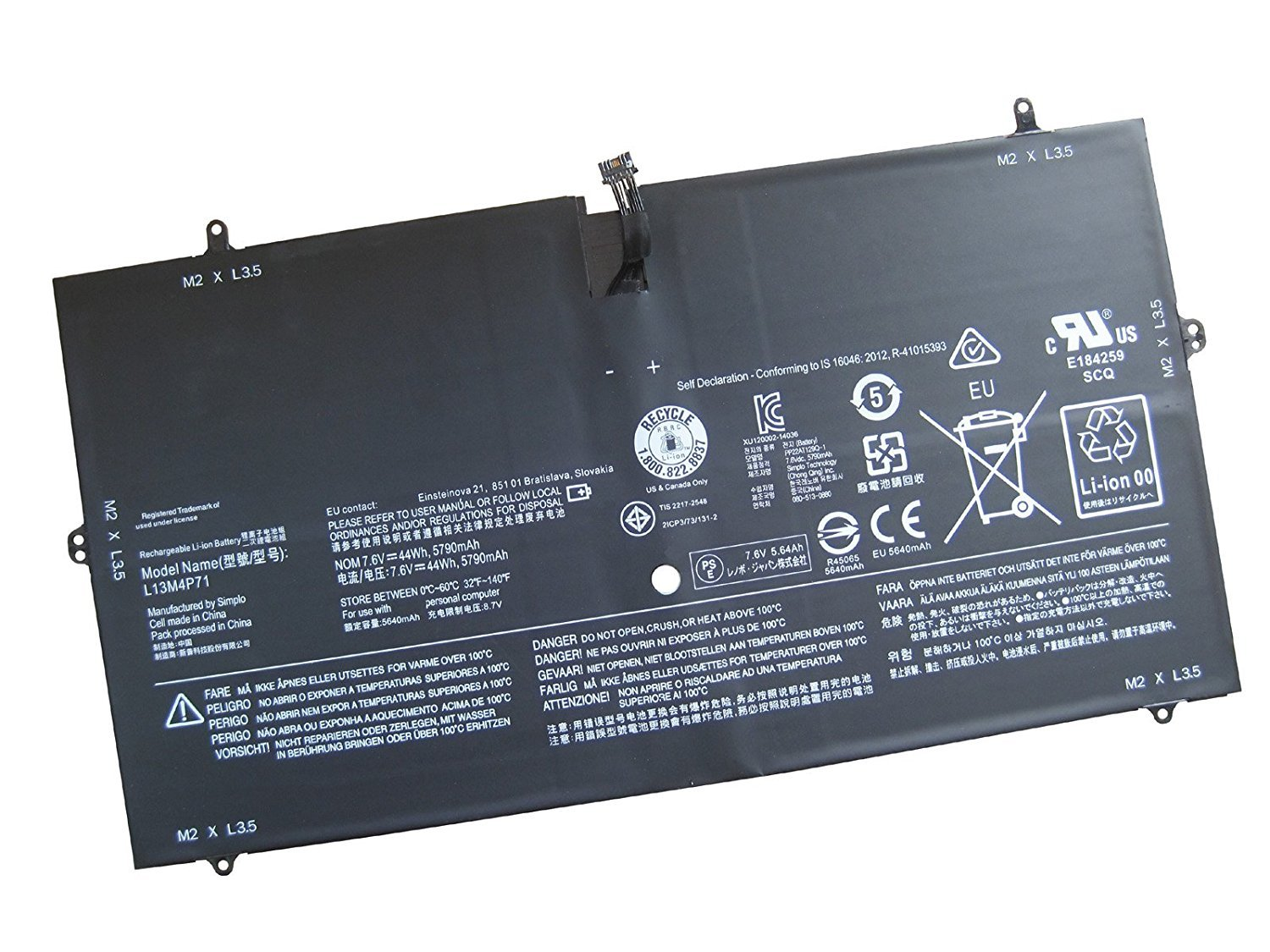 Batterymarket New L13M4P71 Replacement Battery Compatible with Lenovo Yoga 3 Pro 1370 Series Laptop - 7.6V 44WH/5900MAH
