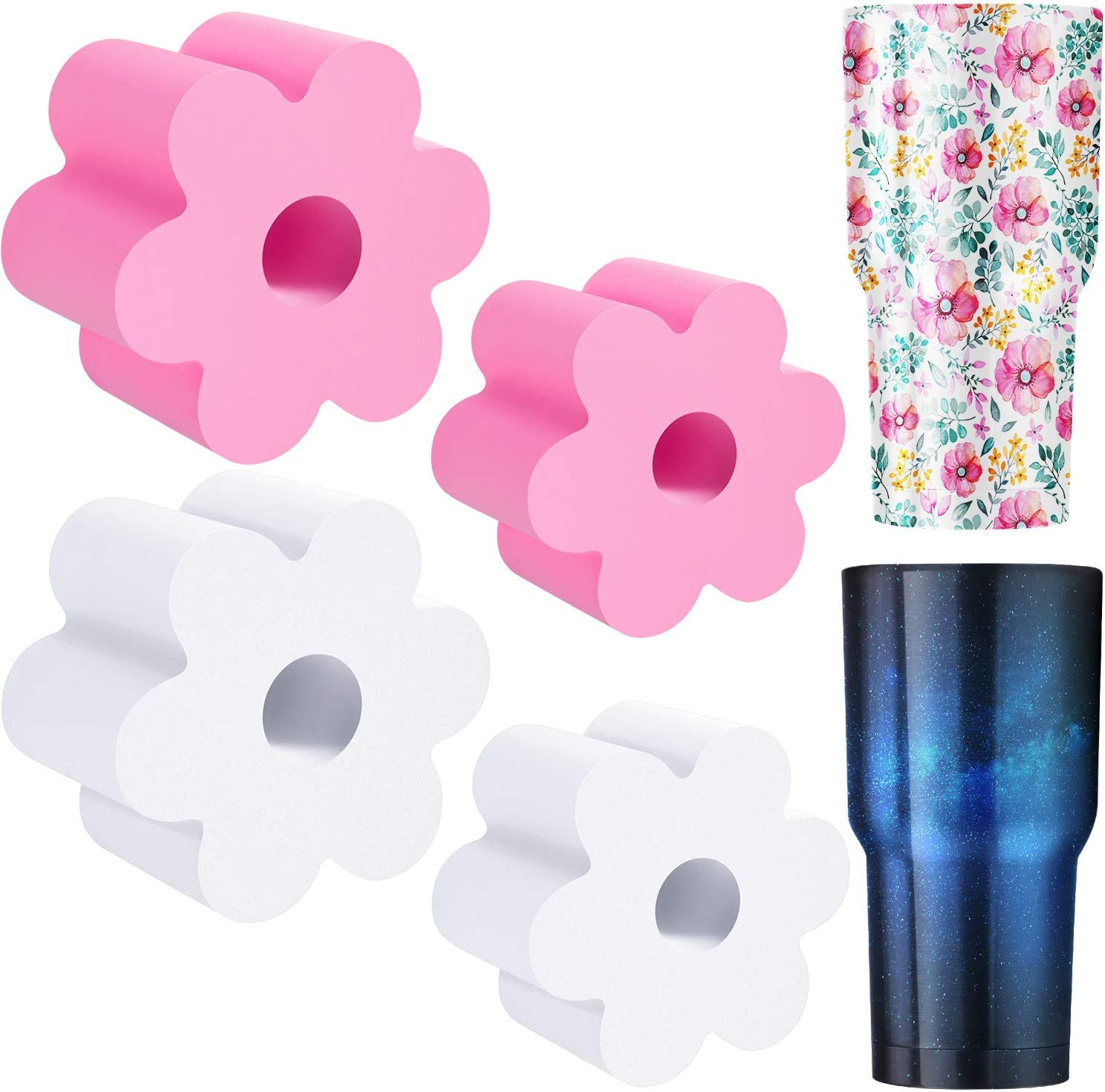 Black 8 Pieces Cup Turner Foam Tumbler Turner Foam Inserts Bottle Cup Turner Inserts Accessories 2.44//2.83//3.18//3.8 Inch Diameter for Tumblers Bottles Cups