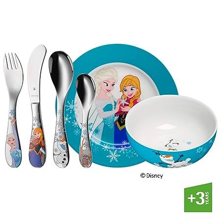 WMF Disney Frozen - Vajilla para niños 6 piezas, incluye plato ...