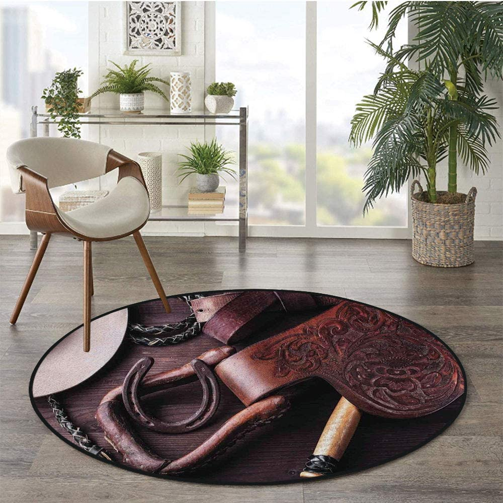 36 x 72 Half Round Door Mat,Majestic Mighty Oak Tree with Largely Broader Leaves Forest Sun Rays Nature Outdoor//Indoor Entry Rug,for Home Kitchen Office Standing Desk Mats,Orange Green Brown