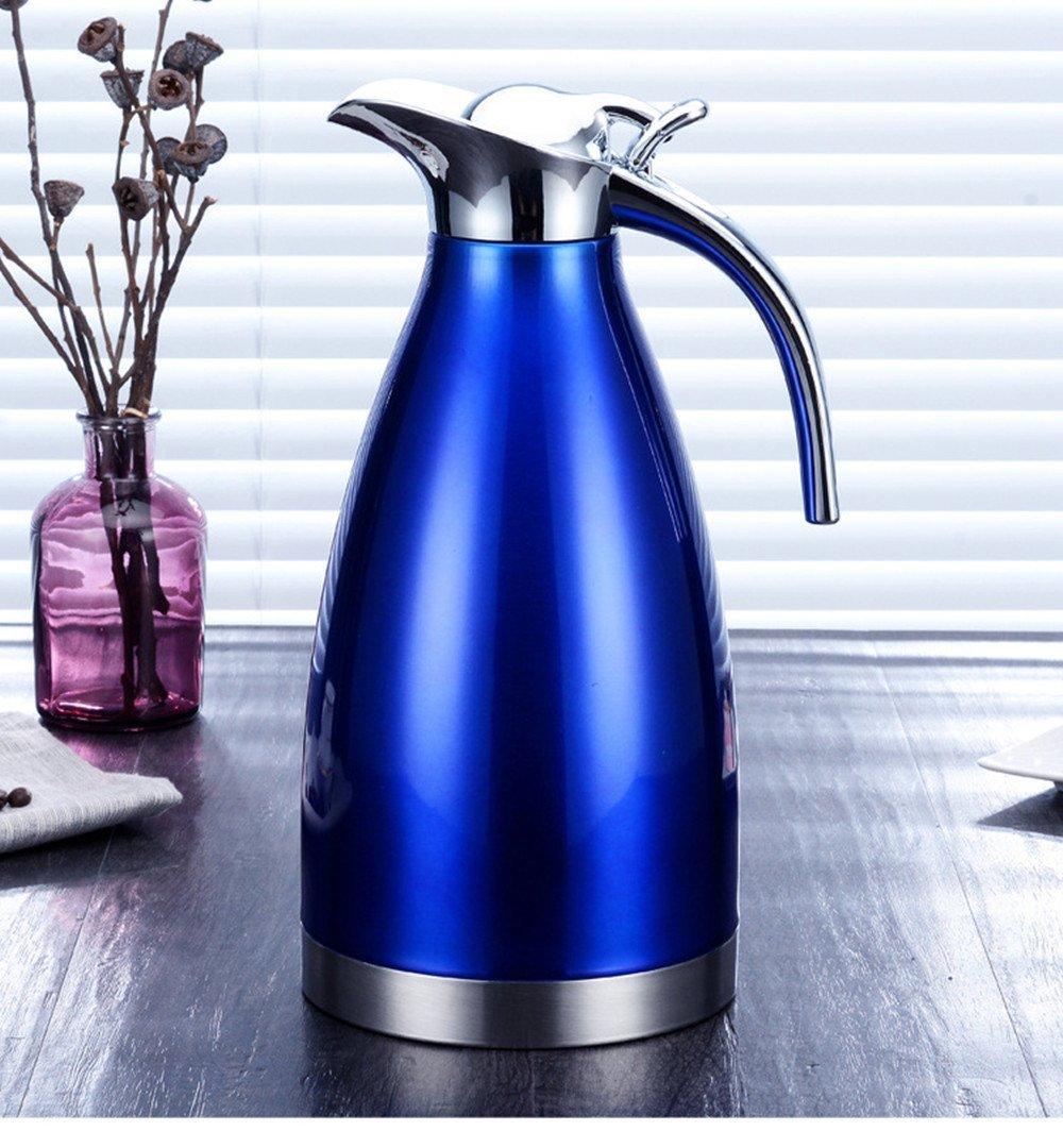 Haosen 1,5 L Caraffa Termica,acciaio inox isolamento Teiere e caraffe per caff/è Blu