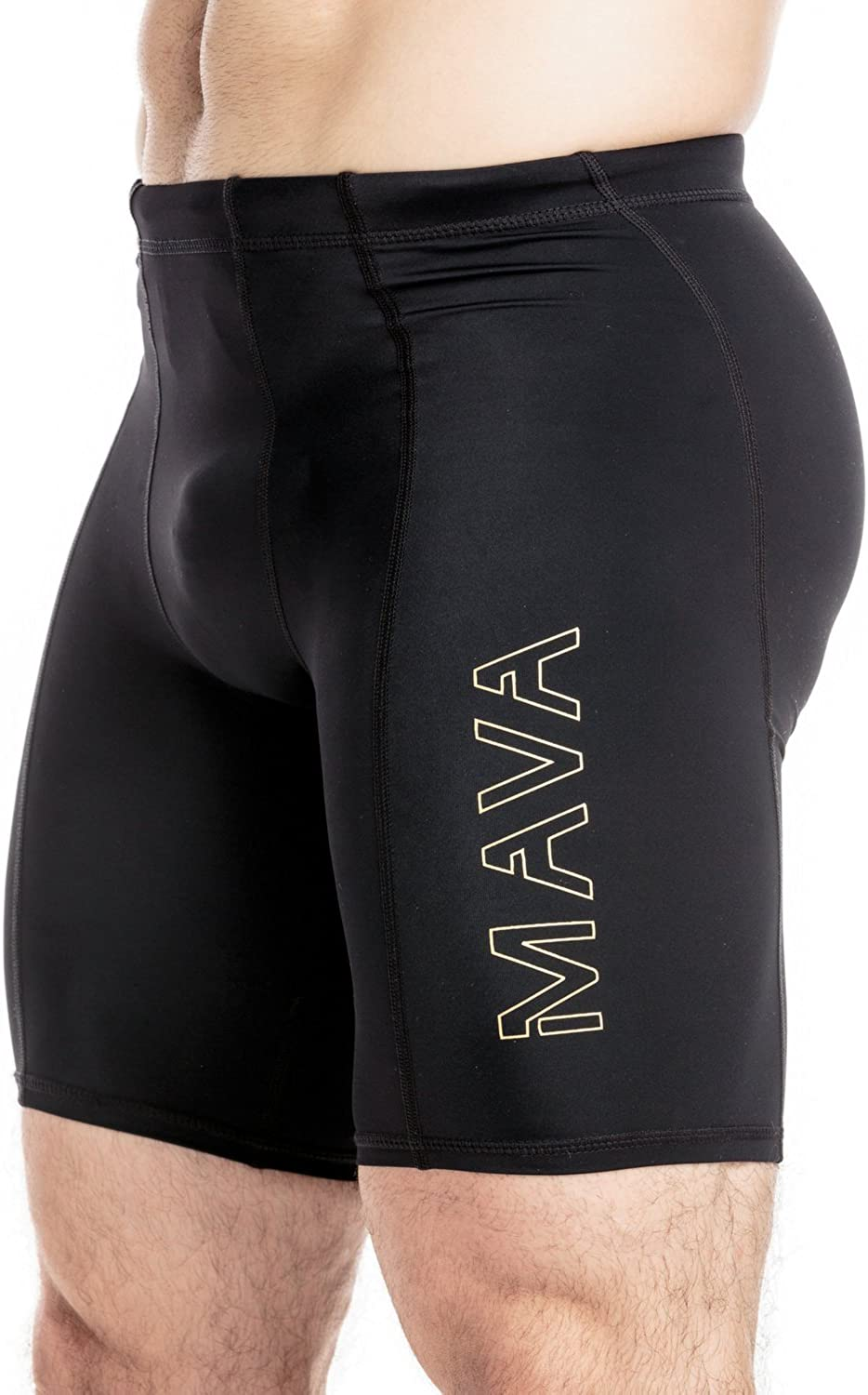 MAVA Men's Compression Shorts - Performance Tights for Workout, Running & Sports