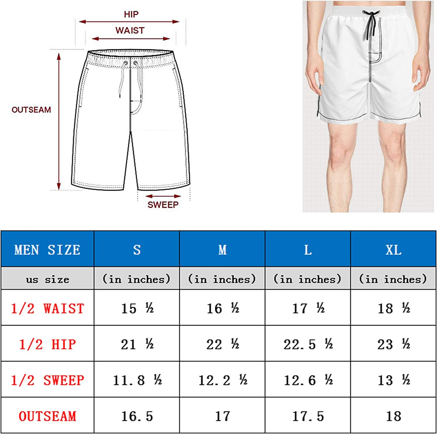 Board Shorts Casual Sport Summer Beach Shorts Finaif Men Moose-Merry-Christmas
