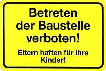 Baustelle schild frau  Amazon.de: Warnschild - Betreten der Baustelle verboten - 308511 ...