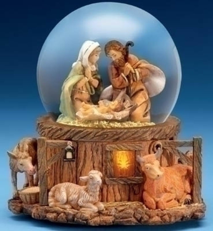 fontanini musical lighted nativity stable scene