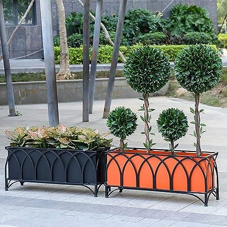 Zhyaj Camas Elevadas Moderna De La Flor Gran Jardín Elevada Metal Plantador para Hortalizas,Naranja,150 * 30 * 45cm: Amazon.es: Deportes y aire libre