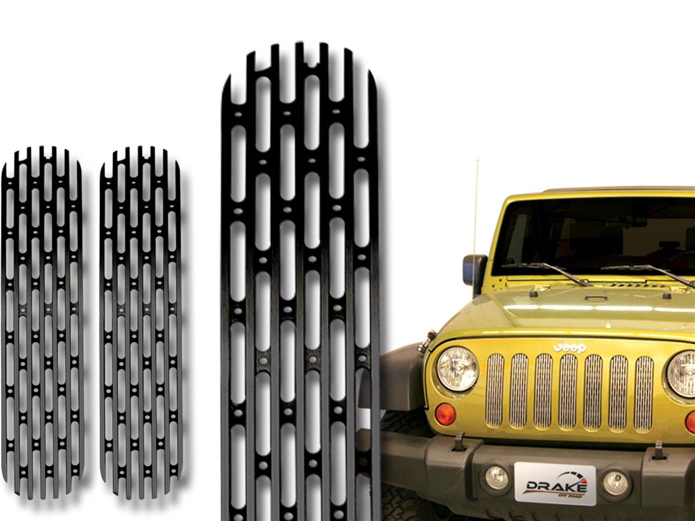 Drake Off Road JP-190018-BLACK Grille Insert for Jeep TJ