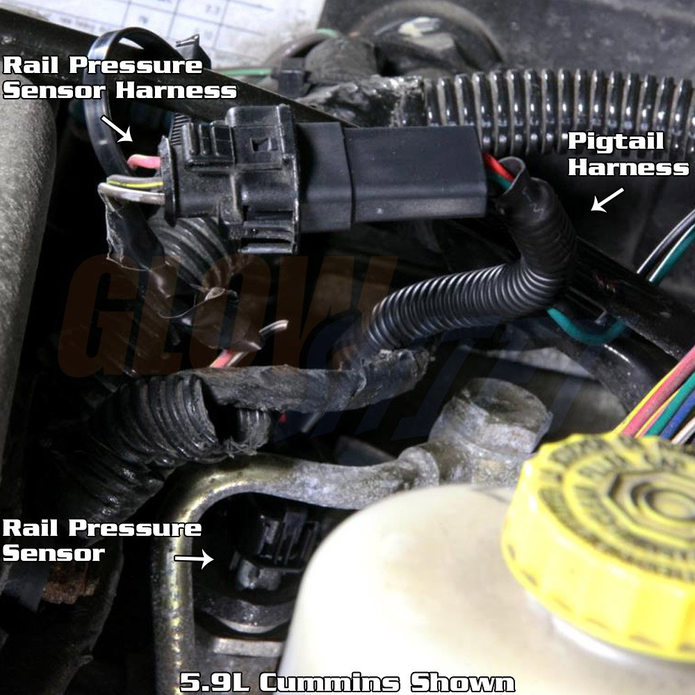 Amazon.com: GlowShift Fuel Rail Pressure Gauge Wiring Pigtail Harness:  Automotive