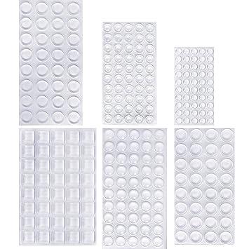 40x Clear Trapezoid Self Adhesive Rubber Feet Self Stick Bumper Pads 12.7 x 6mm