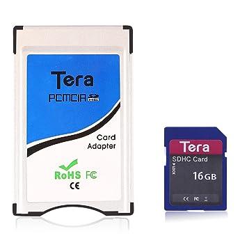Tera PCMCIA Card to SD SDHC Card Adapter Adaptor Converter for Mercedes Benz E Class E200 E260 E300 E350 E63AMG SLK Class SLK20 SLK28 SLK350 SLK55AMG ...