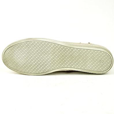 Sneakers, FrühjahrSommer 2014 von Tamaris, Leder in silber