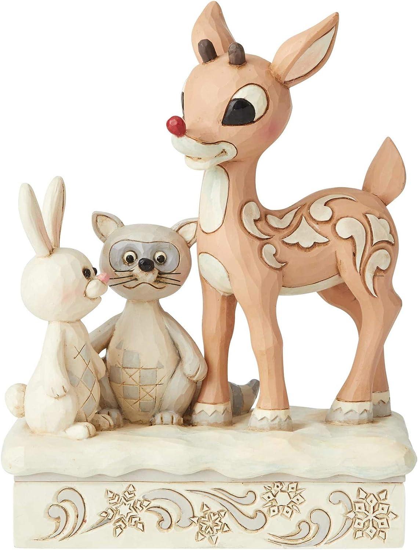 Enesco Woodland Rudolph with Friends Figurine, 5.75