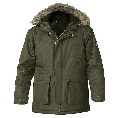 Designer khaki parka jacket