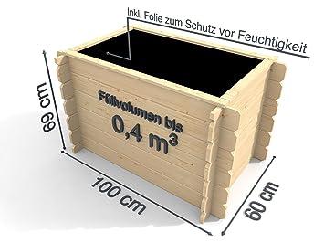 Weka Hochbeet 669 D Natur 19 Mm Klassische Blockbohle Inkl