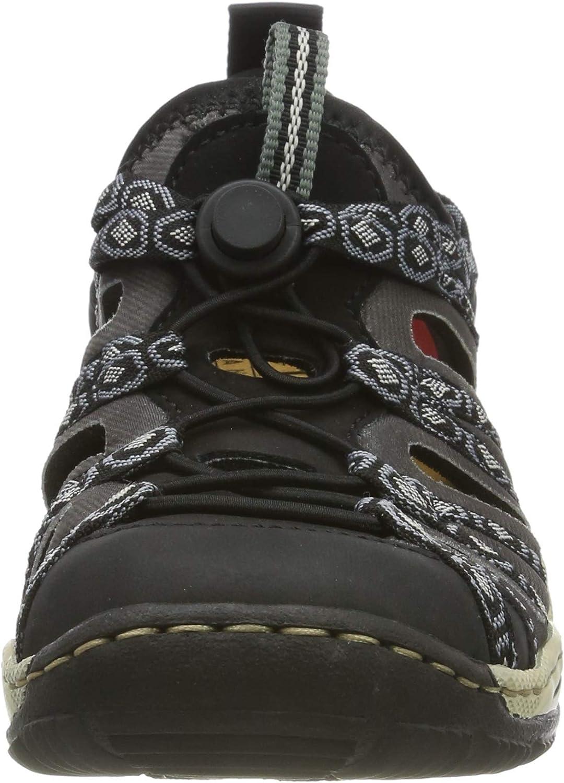 Rieker L0583-02, Sneakers Basses Femme Noir Schwarz Schwarz Schwarz Grau Rauch 02