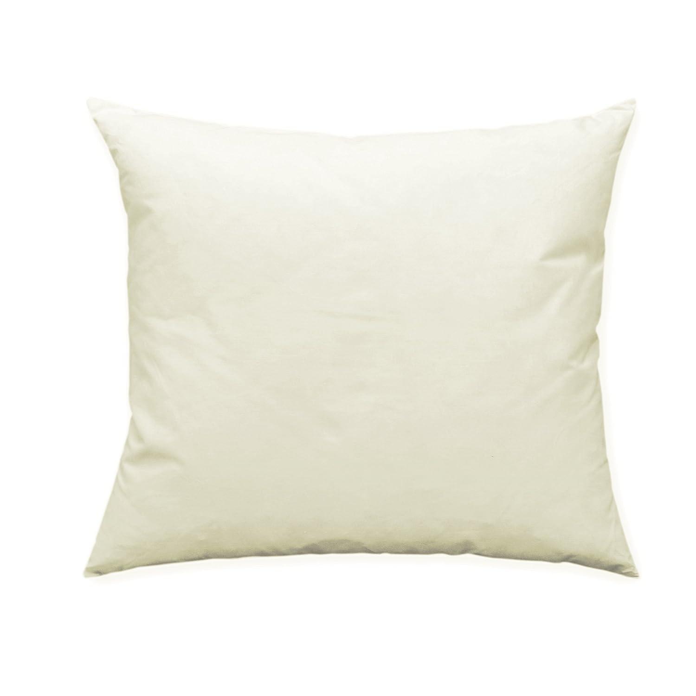 Cojín con relleno de plumas, color blanco, algodón, blanco, 30 x 50