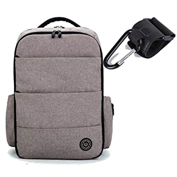 Amazon.com : DRE-ANGEL- mom- Travel Stroller Nappy Mummy Maternity Diapering Diaper Tote Bag Backpack for Moms Daddy Baby Bags Mochila Maternal Gray : Baby
