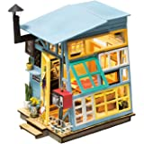 ROBOTIME DIY Dollhouse Kits with Accessories Miniature House Decorations Best Gifts for Boys & Girls 14 Year Old and Up (Wooden Hut)