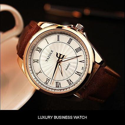 Reloj de cuarzo de lujo YAZOLE 336 Luxury Mens Leisure Dial Romano resistente al agua Reloj