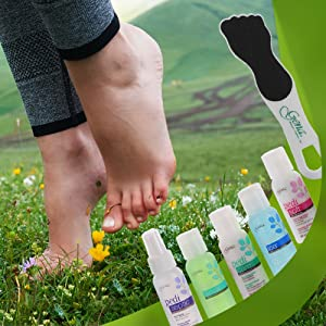 Gena Feet-to-Go Pedicure Kit that helps prevent foot odor, soften calluses and skin and refresh tired feet, perfect for travel