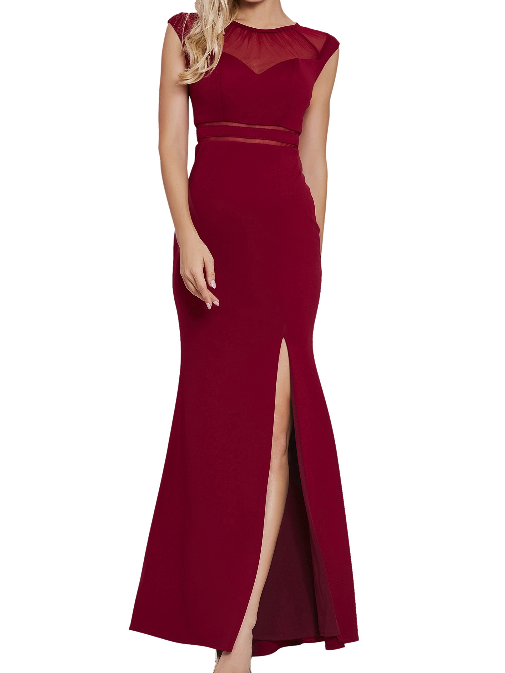 Red Evening Gowns with Split: Amazon.com