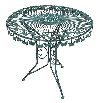 Amazon.de: Metall Tisch Schmetterling Gartentisch Beistelltisch ...