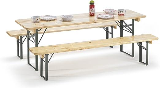 traturio - Juego infantil de mesa y bancos para exteriores (150 x ...