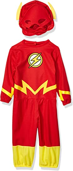 DC/'s Justice League Licensed Flash Kid/'s Costume Includes Mask and Jumpsuit NEW