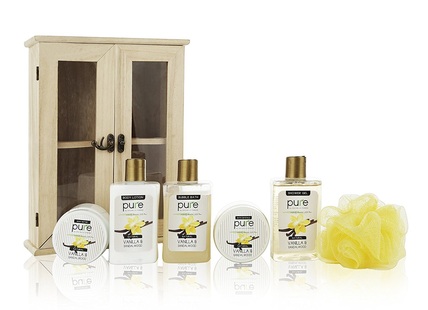 539b735286b5 Amazon.com   Spa Set Vanilla Premium Spa Basket for Men   Women. Holiday  Gifts for Men. Deluxe Gift Baskets for Birthday Gifts
